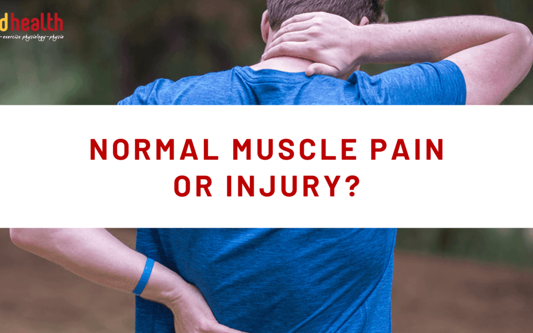 Normal Muscle Pain or Injury_